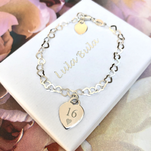 16th birthday  gift bracelet - FREE ENGRAVING